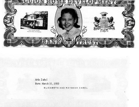 ADG - 1963 Christmas Card - Arla Zabel- front and back