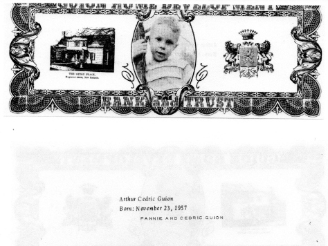 ADG - 1963 Christmas Card - Arthur Cedric Guion - front and back