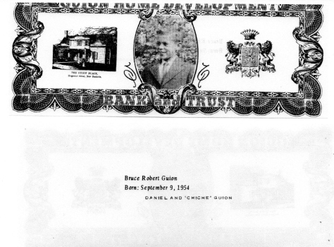 ADG - 1963 Christmas Card - Bruce Robert Guion - front and back