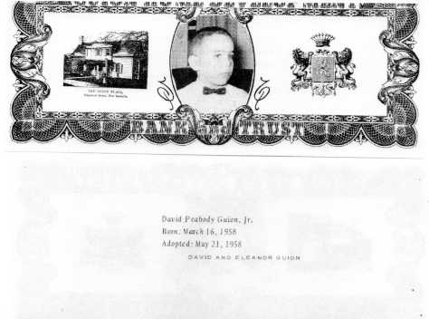 ADG - 1963 Christmas Card -David Peabody Guion, Jr. - front and back
