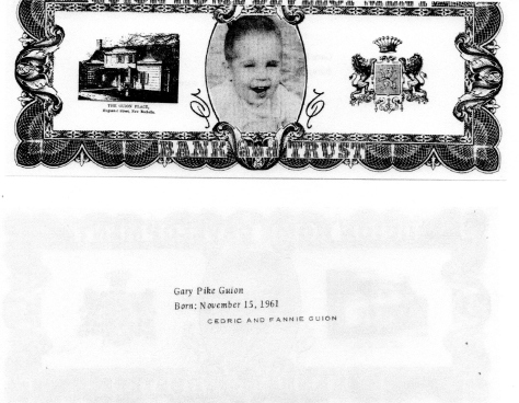 ADG - 1963 Christmas Card - Gary Pike Guion- front and back