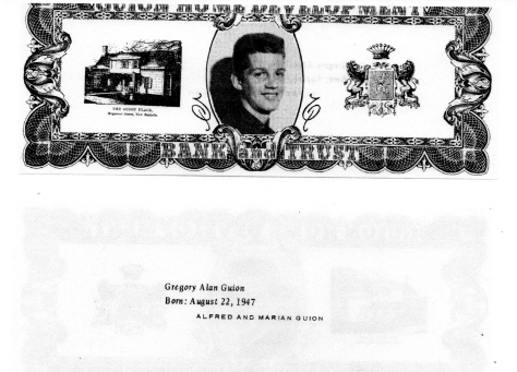 ADG - 1963 Christmas Card - Gregory Alan Guion - front and back