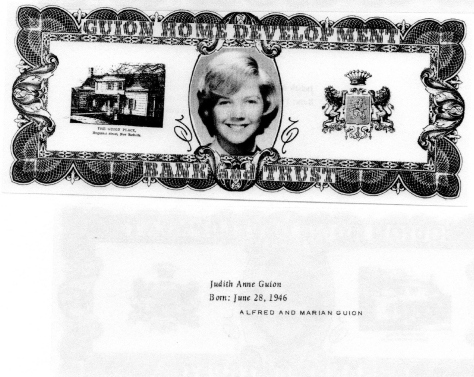 ADG - 1963 Christmas Card - Judith Anne Guion -  front and back (2)