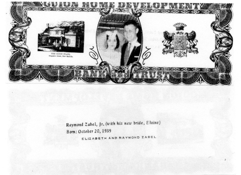 ADG - 1963 Christmas Card - Raymond Zabel, Jr.- front and back