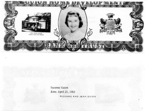 ADG - 1963 Christmas Card - Suzanne Guion - front and back