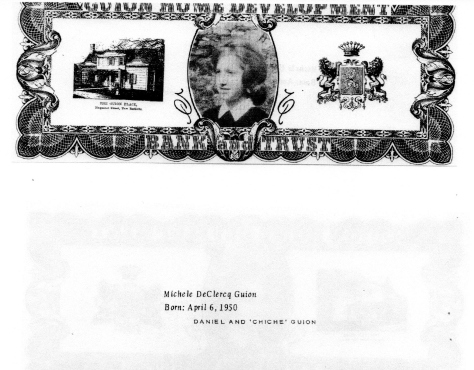 ADG - 1963 Christnas Card - Michele DeClercq Guion - front and back