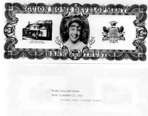 ADG - 1963 Christnas Card - Wendy Senechal Guion - front and back