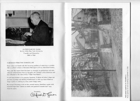 ADG - 1964 Christmas Card - Chancellor's Message & Main Campus