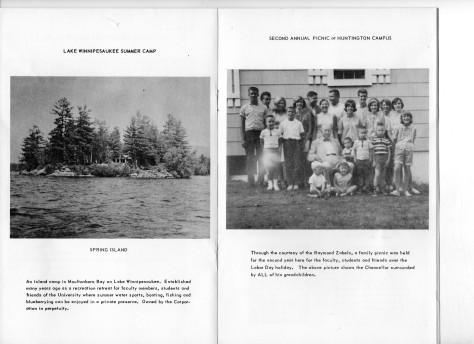 ADG - 1964 Christmas Card - Lake Winnipesaukee Summer Camp and 2nd Annual Picnic at Huntington Campus