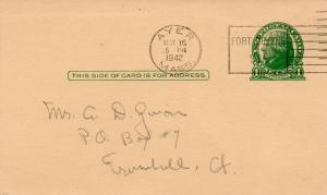 APG - Postcard post mark from Ayers, MA the day of induction, May, 1942