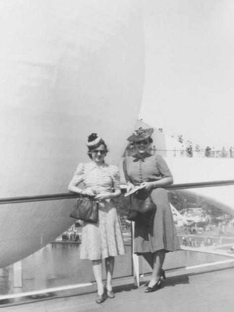 MIG - New York World's Fair - 1939 - standing with friend