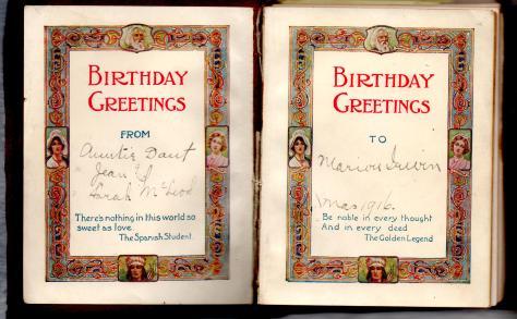 MIG - Birthday Book - inside Birthday Greetings