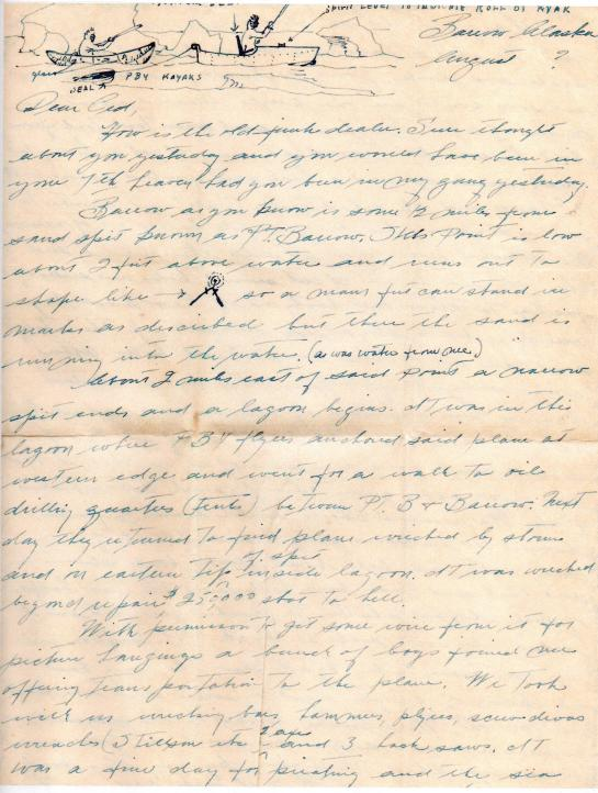 Rusty - Letter to Ced - PBY adventure - Aug, 1944