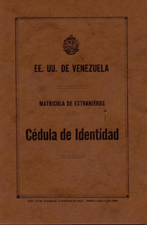 APG - Lad's ID in Venezuela - front - 1940