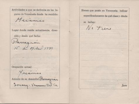 APG - Lad's ID in Venezuela - pages 12-13 - 1940