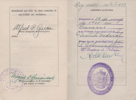APG - Lad's ID in Venezuela - pages 14-15 - 1940