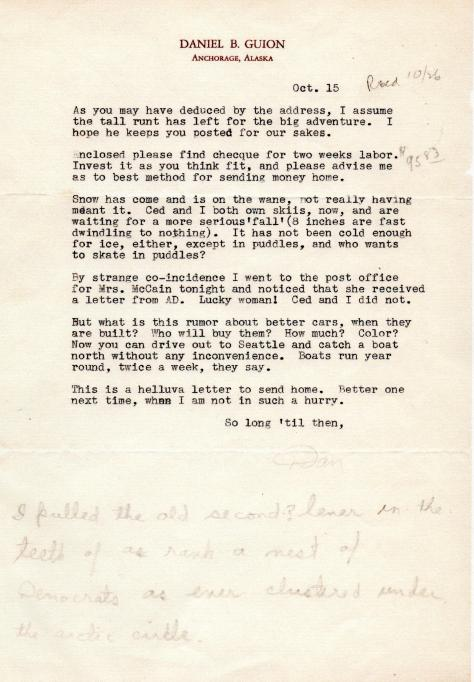 DBG - AD letter to Mrs. McCain - Ovct., 1940