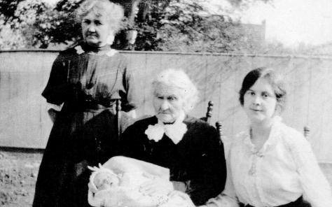 Four Generations - Anna Charlotta Westlin Peabody, ________ Westlin holding Alfred Peabody Guion, Arla Mary Peabody Guion, 1914