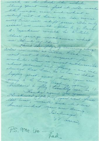 MIG - Letter to Ced re Christmas gifts and Dave at Little Rock - Oct., 1944