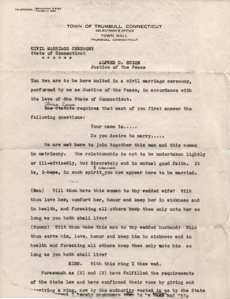 ADG - Civil Marriage Ceremony script