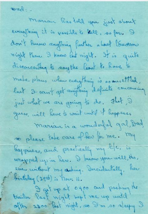 APG - letter to Grandpa - Nov., 1944