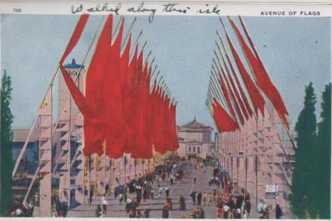 CDG - 1934 Chicago Fair Postcard - Avenue of Flags