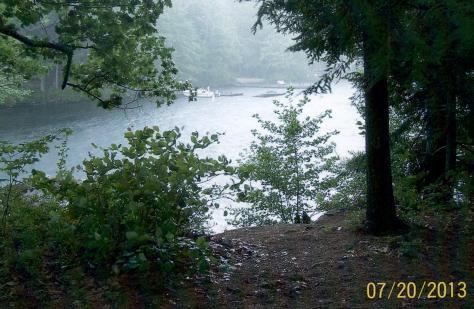 Spring Island - beginnig of a rainstorm in 2013 (Judy)