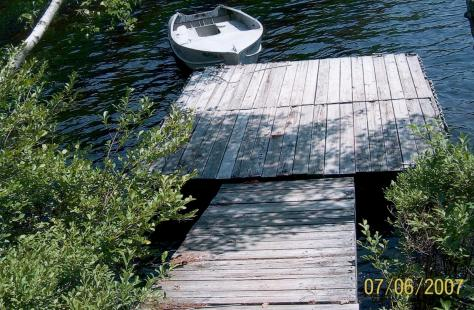 Spring Island - Old dock - possibly 40 years old (Judy - 2007)
