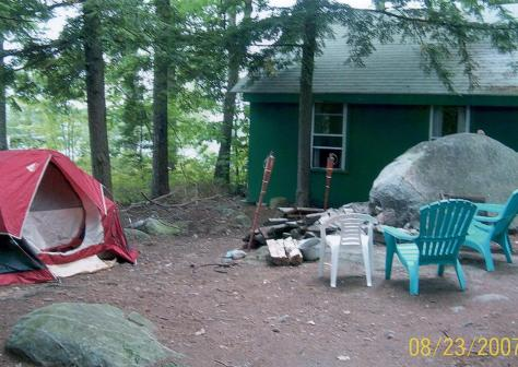 Spring Island - Sleeping cabin and firepit (Judy -2007)