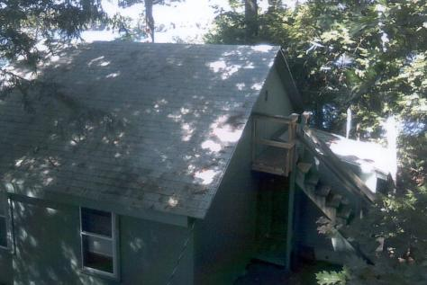 Spring Island - Sleeping cabin from roof of Cook Cabin - (Judy - 2013)