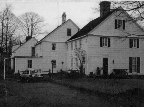 Trumbull House - the driveway and the back of the house