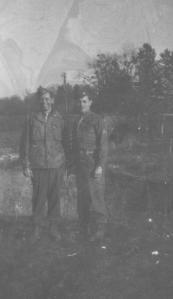 APG - Al and Mike Hennigan, Langres, France, March, 1945