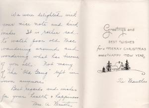 APG - Holiday Greetings - 1940 - Mrs Mantle - (message)