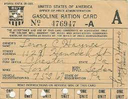 ADG - Gas Rationing Card - 1945