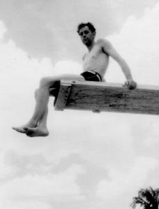 APG - Pool at San Tome Camp, Venezuela, Lad on high dive