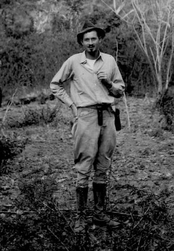 DBG - Dan in Venezuela with peaked cap - alone - 1940