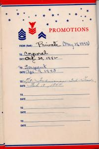 APG - Lad's Service Record Booklet - Promotions
