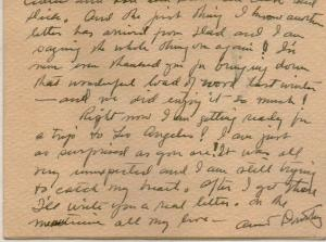 CDG - Christmas card from Helen Human (back) - Dec., 1944