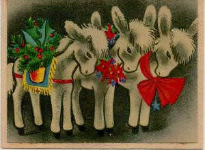 CDG - Christmas card from Helen Human (front), Dec., 1944