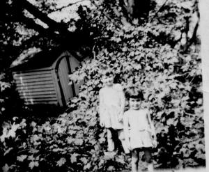 Trumbull House (4) - Playhouse (old Privy) covered by Maple TRee - Hurricane - Sept., 1944