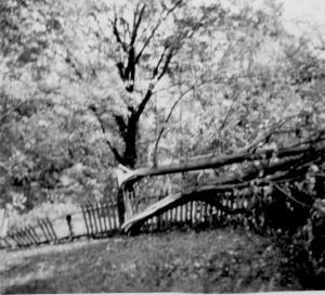 Trumbull House - Hurricane damage (1) - Sept., 1944