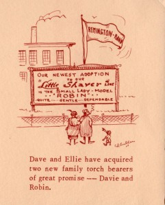 ADG - 1960 Christmas Card - Dave and Ellie