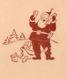 ADG - 1960 Christmas Card - Santa