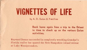 ADG - 1960 Christmas card - Vignettes of Life - opening