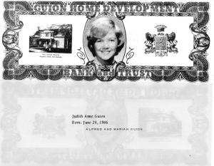 ADG - 1963 Christmas Card - Judith Anne Guion, front and back