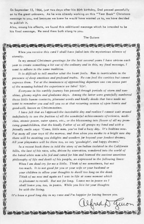 ADG - 1964 Christmas Card - back cover - Final message