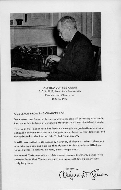 ADG - 1964 Christmas Card - pg. 1 - Message