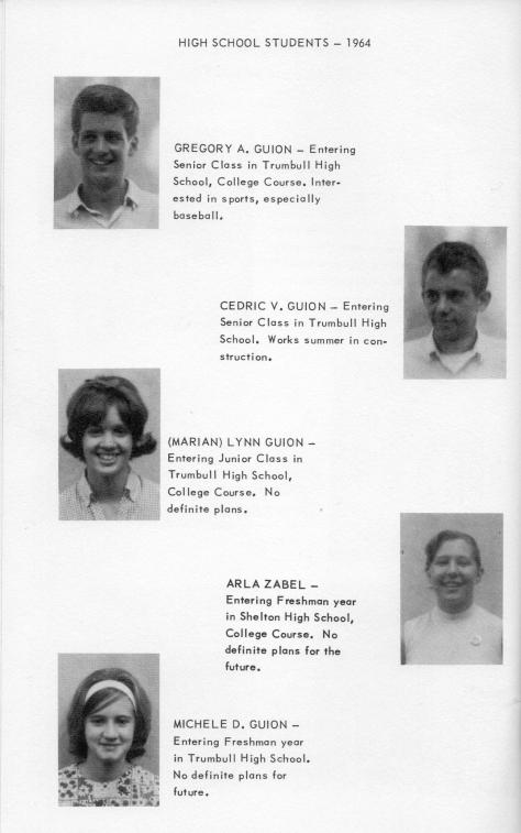 ADG - 1964 Christmas Card - pg. 15 - Greg, Cedric, Arla Z., Lynn and Michele