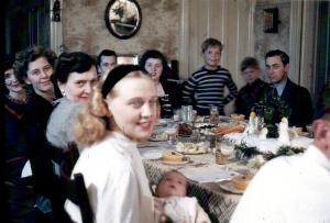APG - 1947 Christmas - Aunt Chiche with Cedric