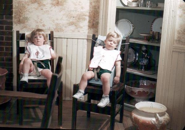 APG - 1947 Christmas - Judy and Doug after Dinner